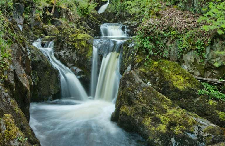 Part of the Ingleton Waterfalls in the Yorkshire Dales