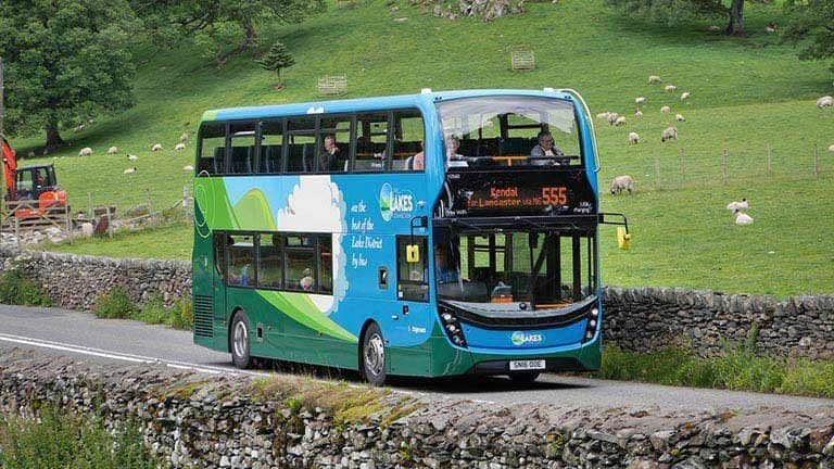 Travel the English Lake District using The Lakes Connection bus, run by Stagecoach