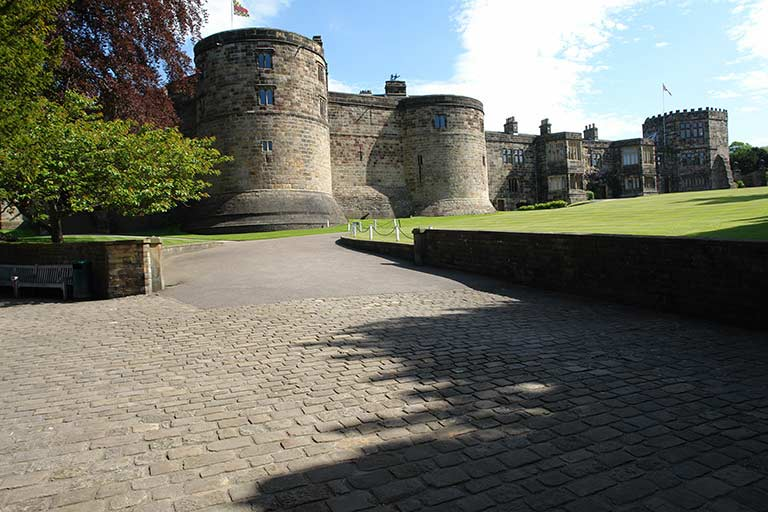 Skipton Castle at the edge of the Yorkshire Dales