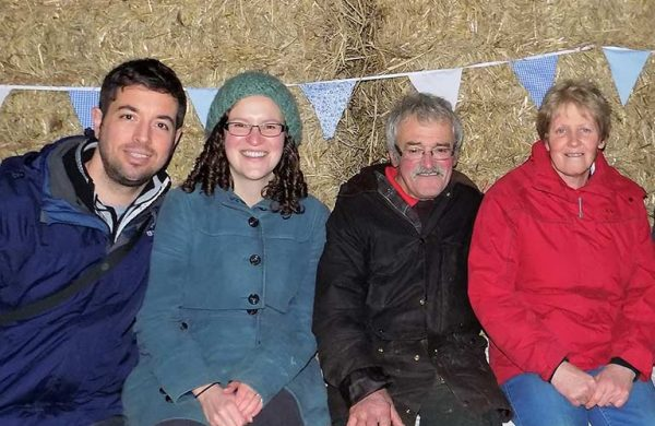 Ross, Adele, Max and Jenny on Whin Yeats Farm in Cumbria